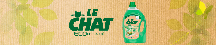 Le Chat Eco-Efficacité: une lessive liquide efficace et écologique
